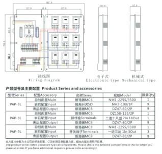 单相九表位电能计量箱/电表箱(左右结构)