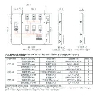 单相六表位电能计量箱/电表箱(分体式结构)