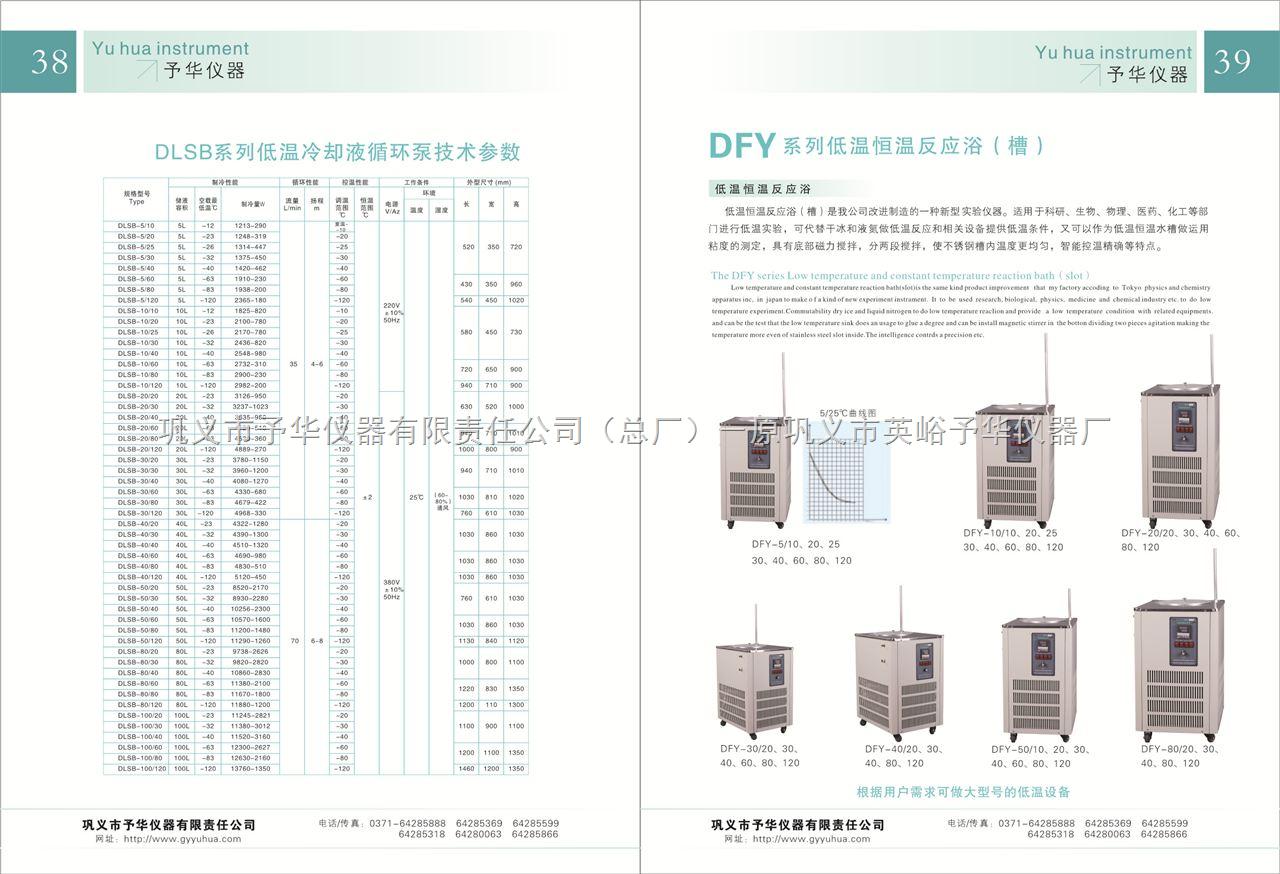 DFY-30L低温恒温搅拌反应浴