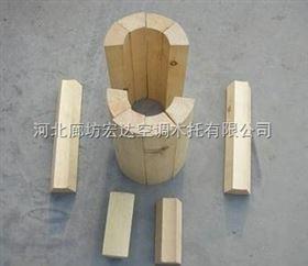 红松木保冷管托,管道垫木外径