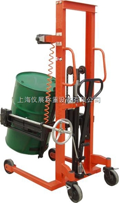 义乌油桶车电子磅秤厂家,350KG可以称重量的升降搬运车