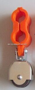 拖线滑车 拖缆滑轮 吊线滑车 行车配件 双孔电缆滑轮