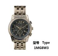 手表式近电报警器 全钢双历男表 1MG8W3