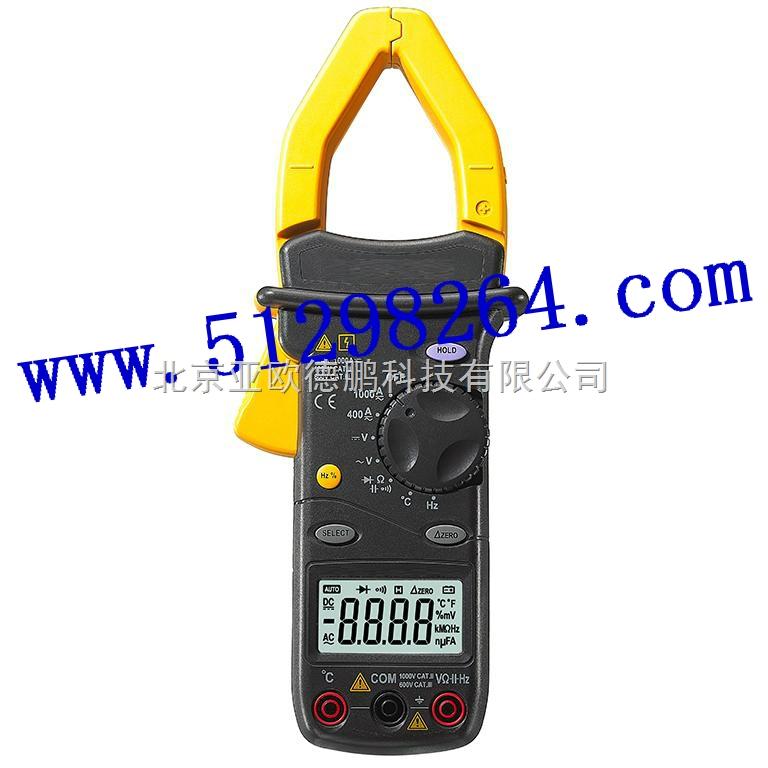 交直流数字钳表/数字钳表 型号 DP9912 显示方式:LCD液晶显示器显示,zui大读数为3200和33 段模拟条图。量程方式:自动/手动。测量原理:双积分式A/D转换。极性显示:负极性输入显示符号。过量程显示:OL。测量速率:2.5次3次/秒。钳头张开zui大尺寸:55mm。电 源:NEDA 1604 或6F22 006P 9V电池。低电池指示:LCD右下方显示+-。使用环境温度:535。存储温度:-1050。温度系数:0.
