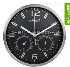 供应榛利 温湿度挂钟 时钟 不锈钢外壳 静音时钟 温度 时钟 A1003
