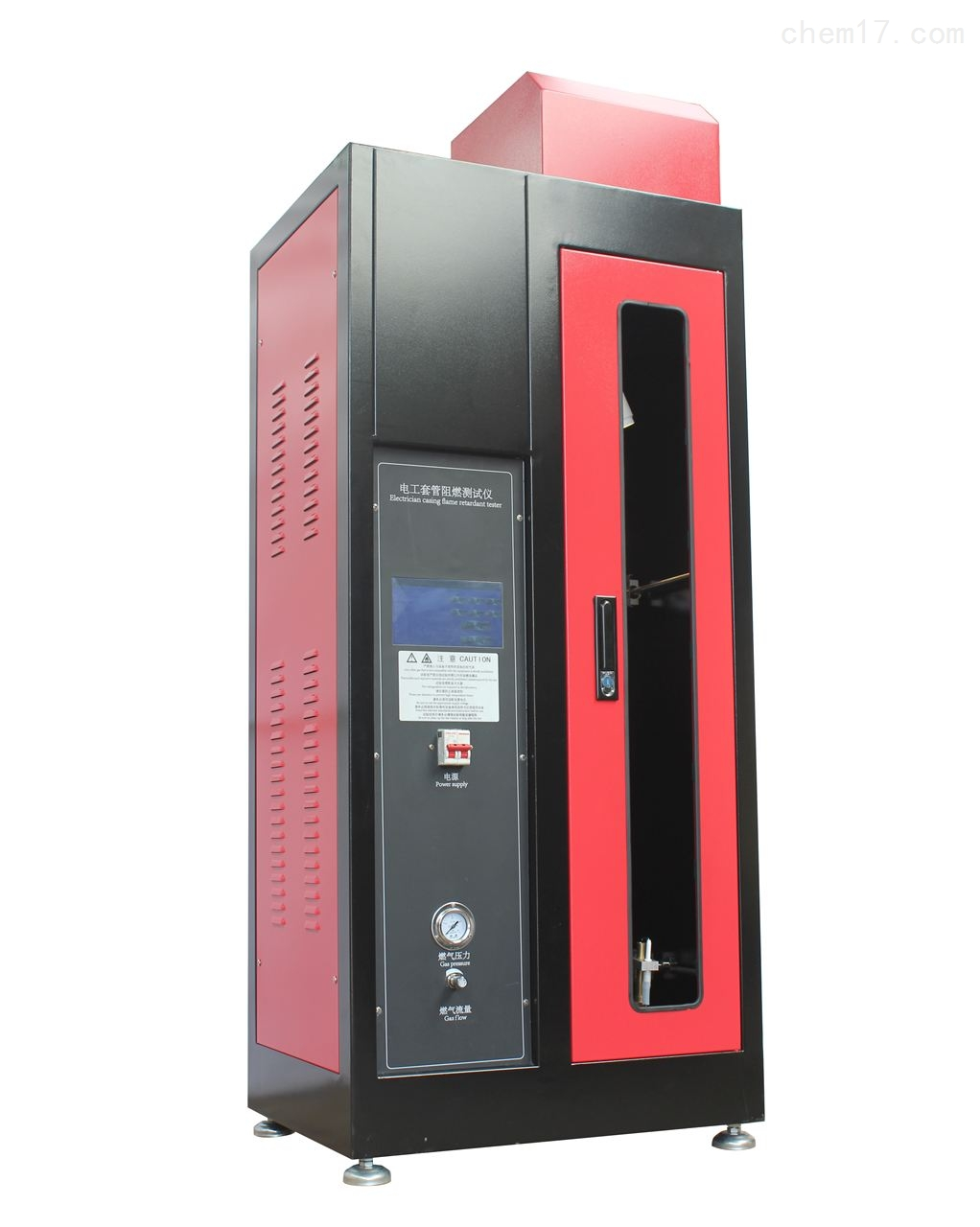 触摸屏+PLC控制电工套管阻燃性能测试仪