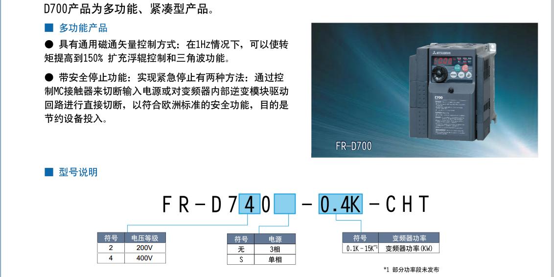 fr-d740-2.2k-cht-三菱变频器-上海梓聪机电设备有限