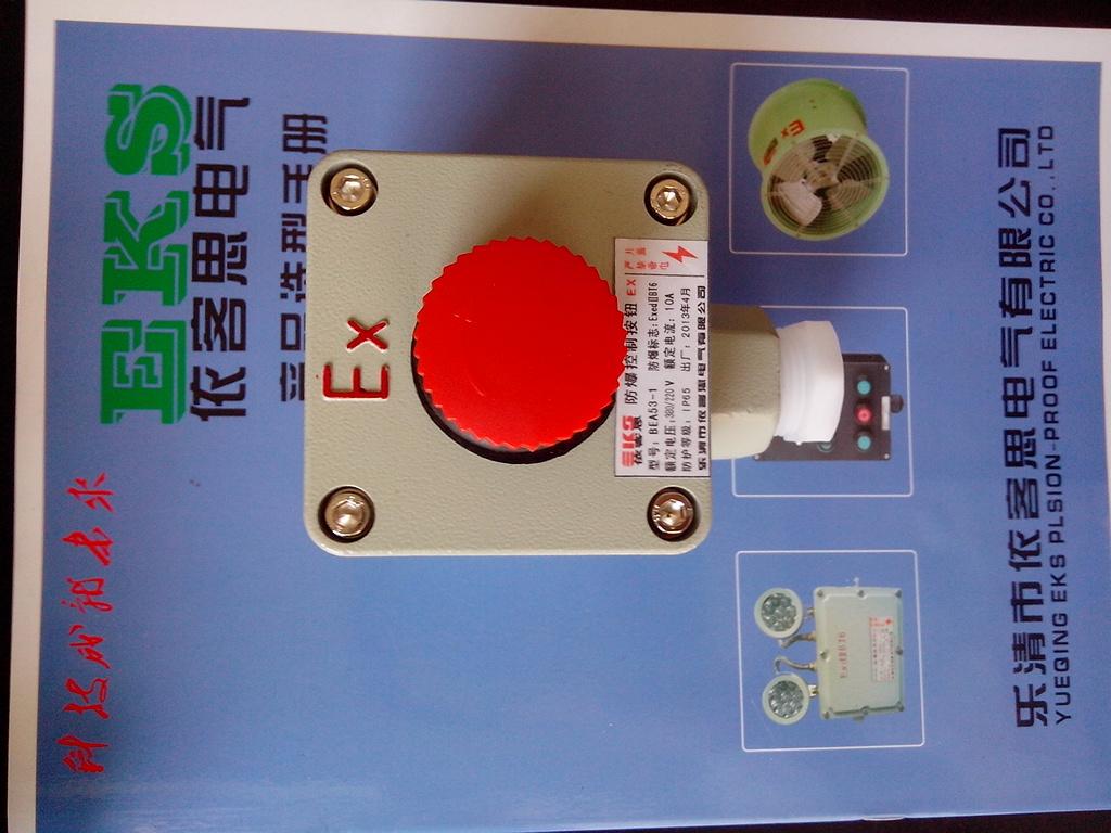 红色自锁急停事故按钮盒bza8050-a1防爆按钮-依器思