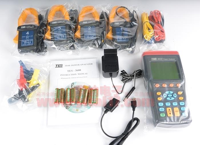 台湾泰仕tes-3600 三相电力分析仪