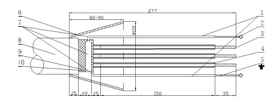 矿用高压电缆接线盒,煤矿井下用bhg1系列矿用隔爆型高压电缆接线盒
